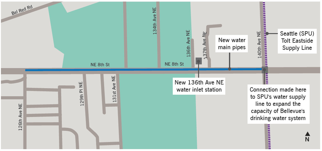 136th Avenue NE Water Inlet Station Project Map