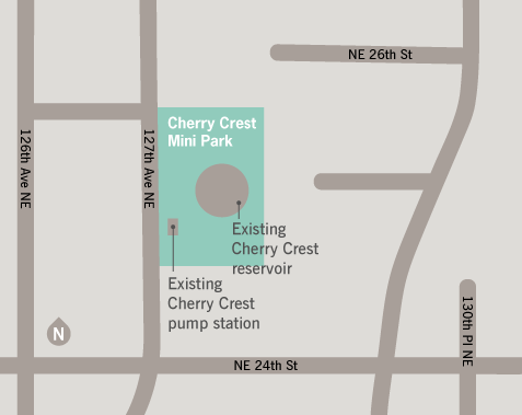 Cherry Crest Pump Station Replacement Project Map