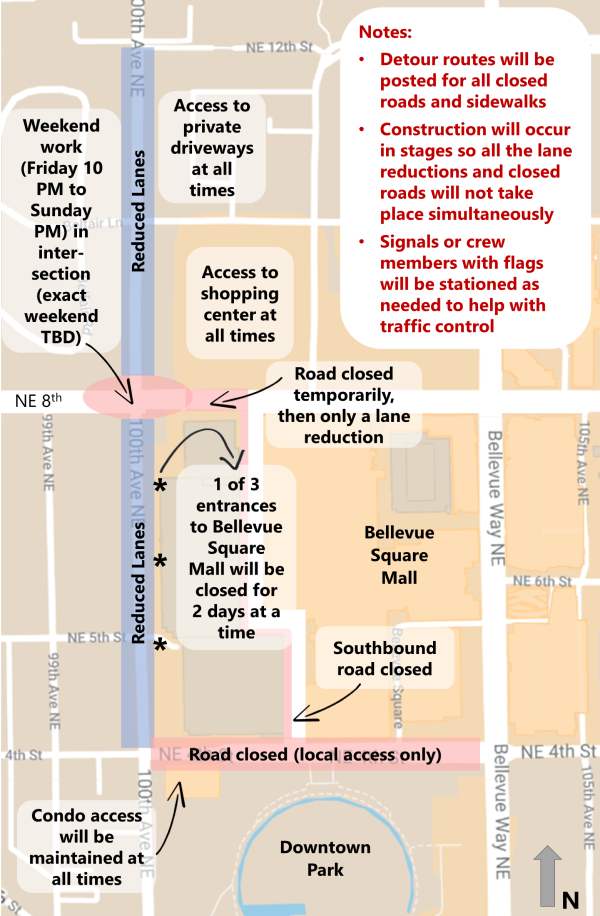 Meydenbauer Basin Project Proposed Traffic Map