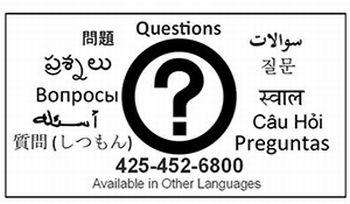 image of help graphic in multiple languages