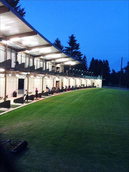 The new driving range at Bellevue Golf Course!