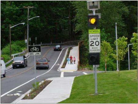Image of Eastgate School Zone Sign