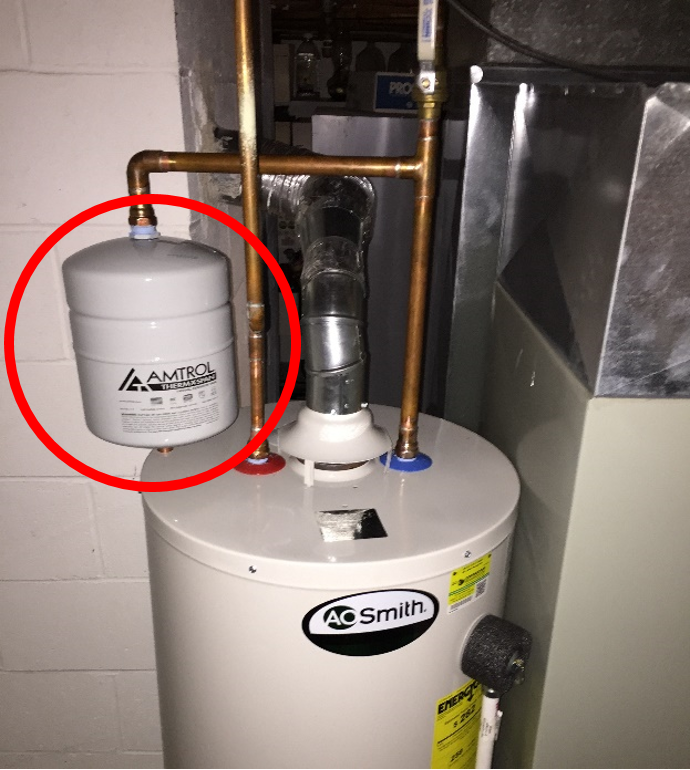 Expansion Tank and Water Heater