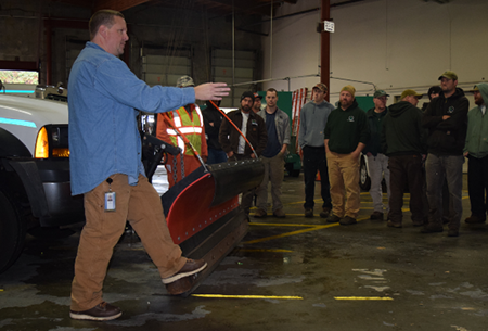 image of Maintenance workers receive weather response traini