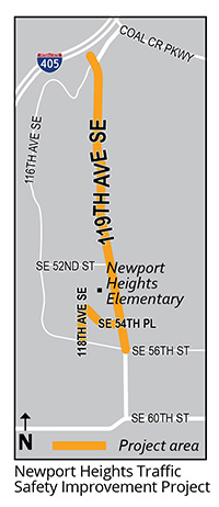 Newport Heights Traffic Improvement Map