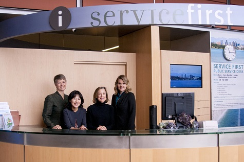 Image of Staff at service first