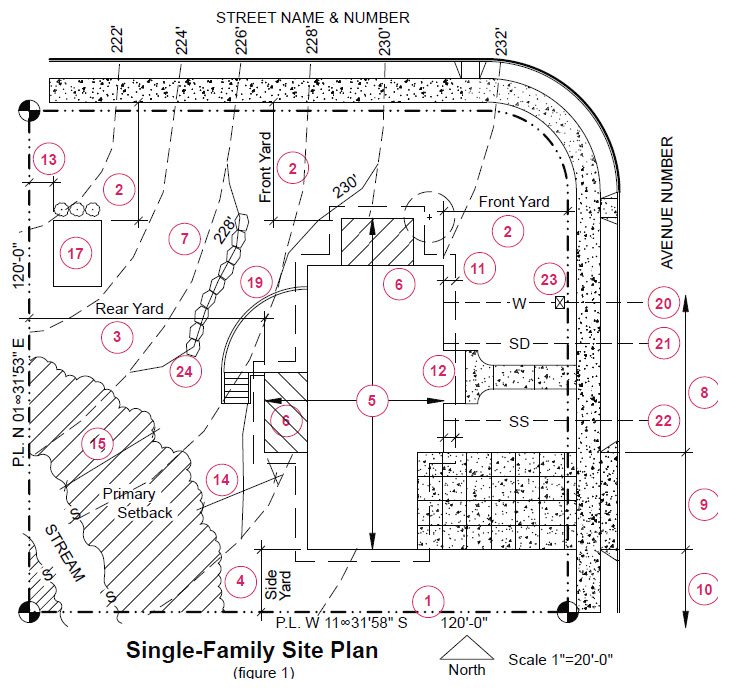 image of single family residential site plan