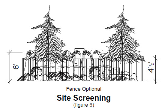 image of site screening fence optional with RV