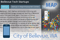 Thumbnail image of Tech startups story map, mobile-friendly
