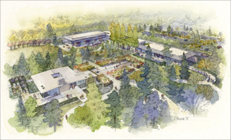 Aerial drawing of the proposed Visitor Center