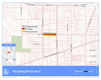 map of Spring Blvd. Zone 4 project