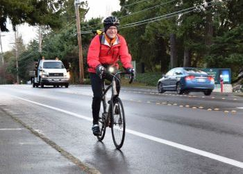 image of bicyclist riding