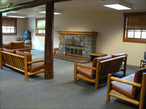 Highland Center's Fireside Room