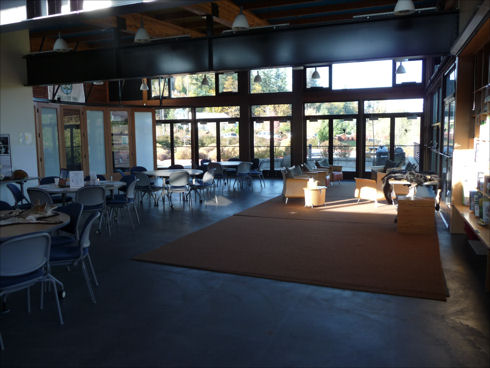 Lewis Creek Visitor Center - inside main room