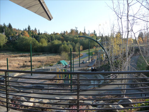Lewis Creek Visitor Center - view of play area