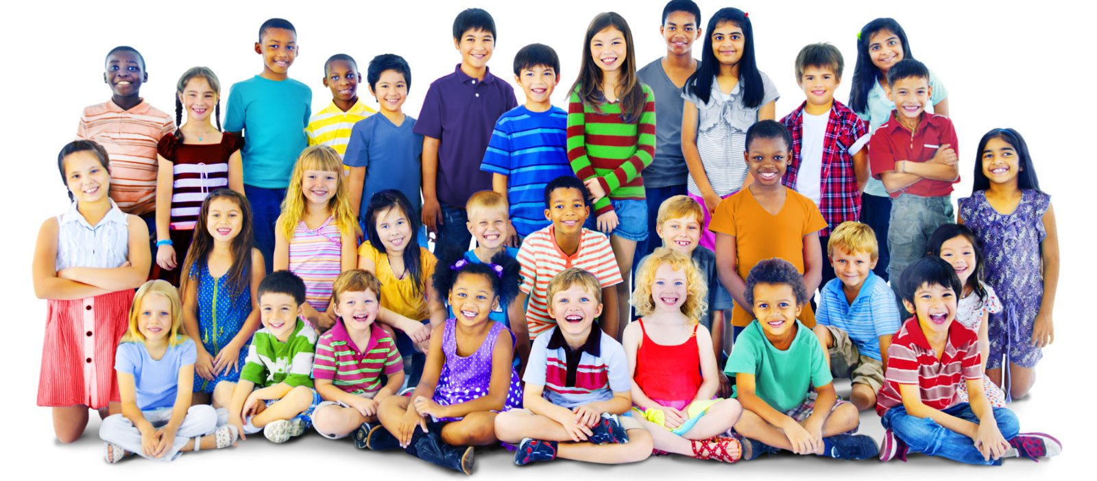 Multicultural group of children and youth