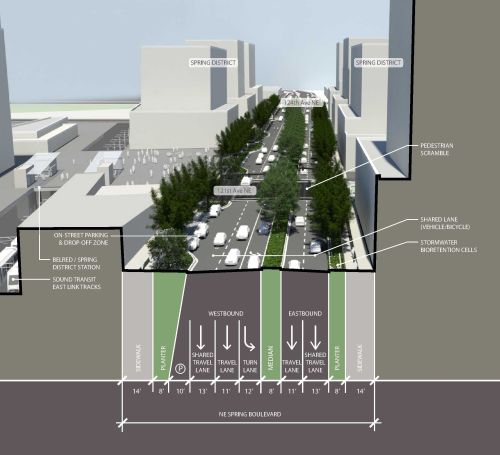 image of Spring Boulevard Zone 2 lane diagram