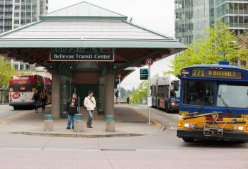 image of Bellevue Transit Center downtown photo by John Tisc