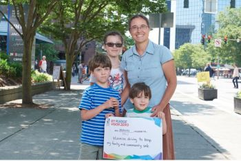 image of vision zero family and sign