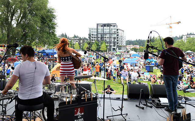 A band plays at the 2018 Family 4th.