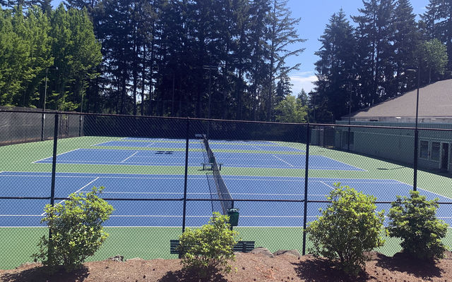 Players will soon be on these courts on sunny days.