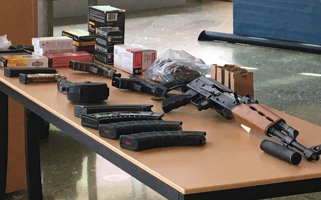 Weapons seized during looting arrests