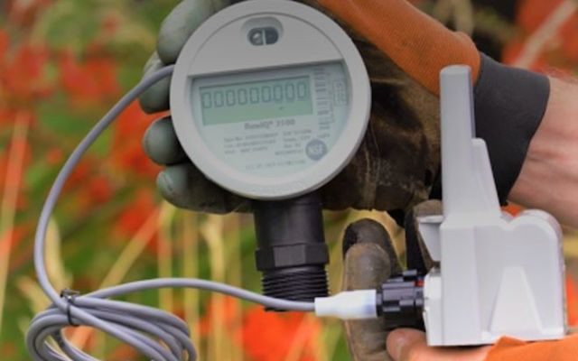 Image of a smart water meter