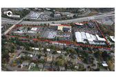 Aerial picture of the East Main area designated for transit-oriented development.