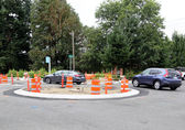 "This ""mini-roundabout"" at 138th Avenue Southeast and Southeast 40th Street makes the way to and from Tyee Middle School safer."