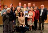 Image of Bellevue City Council and Puget Sound Regional Council awarding Vision 2040 award to 30Bellevue.