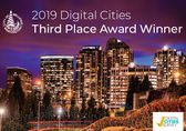 Picture of Bellevue saying Digital Cities third place