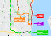 West Lake Sammamish Parkway pipe replacement map