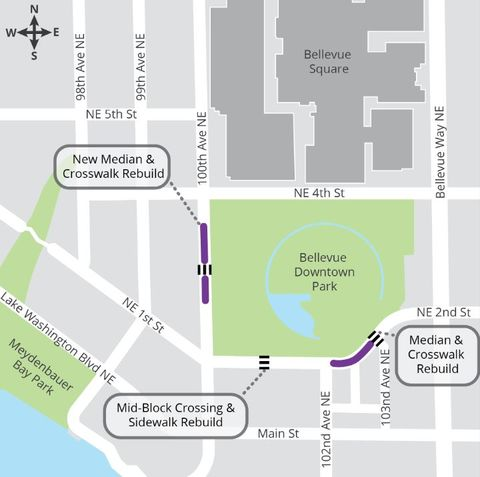 Downtown Park Crosswalks project map