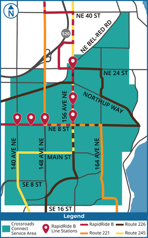 Crossroads Connect service area map