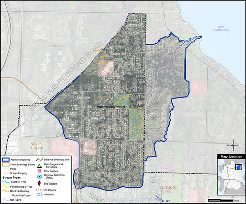 Ardmore area drainage map