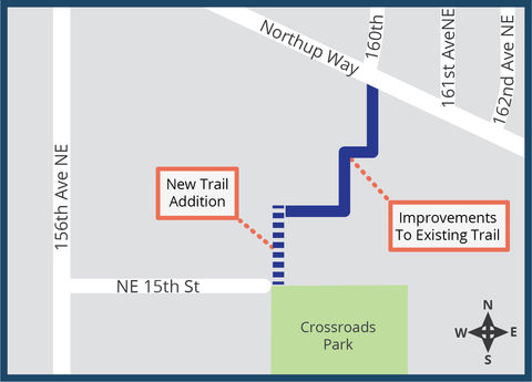 Crossroads Pedestrian Trail Improvement Map