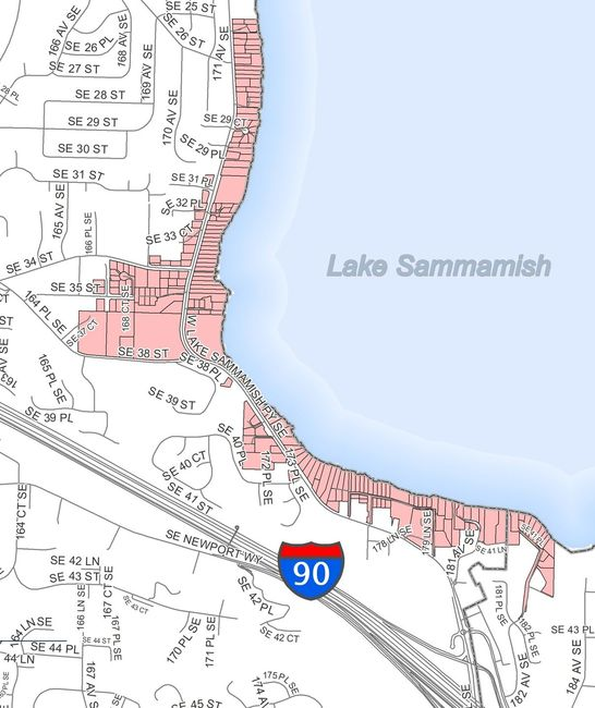 West Lake Sammamish Water Pressure Project Map