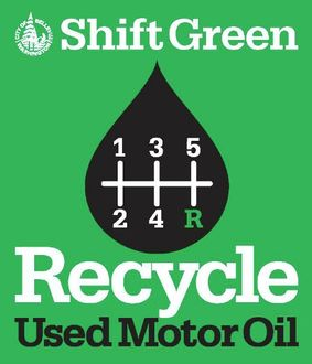 Graphic promoting recycling of used motor oil